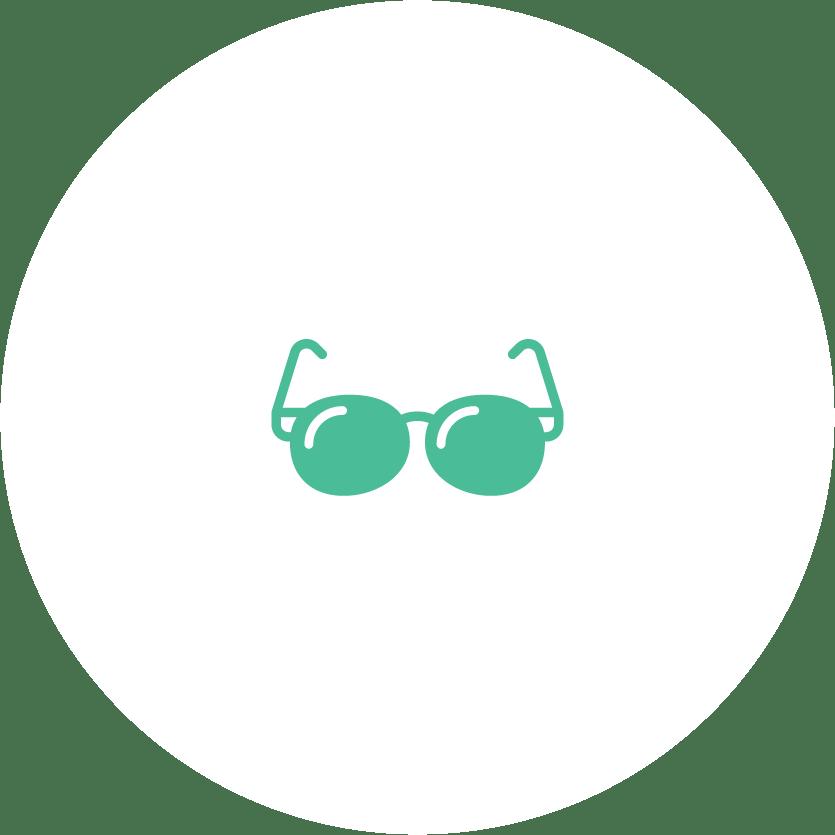 Okulary przeciwsłoneczne grafika